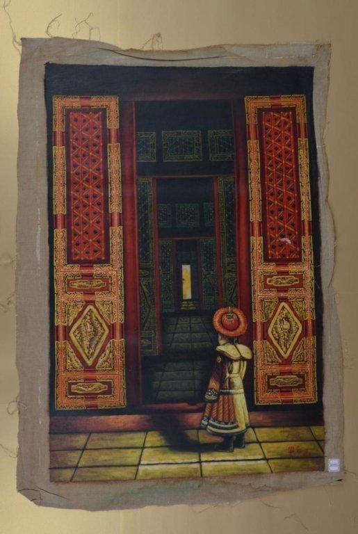Jiang Guofang ; Chinese oil on canvas