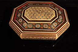 Vintage wooden and Mother of pearl box