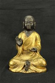 Tibetan antique Gilt bronze Buddha statue
