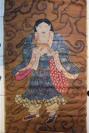 Chinese water color on silk ; touch of golden ink ; 172