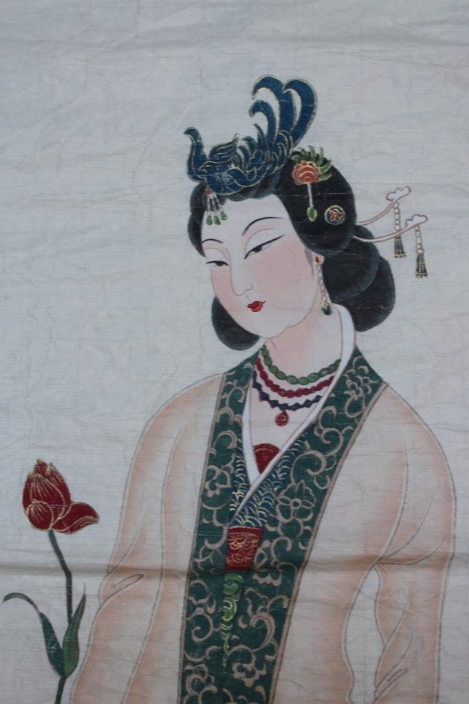 Chinese water color ; signed Zhang daiqian ; 85 X 35 cm - 4