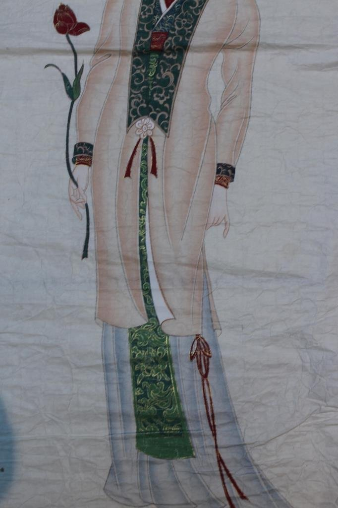 Chinese water color ; signed Zhang daiqian ; 85 X 35 cm - 5