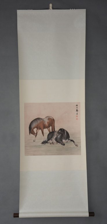 Chinese Scroll Painting ;signed  Ma Jin