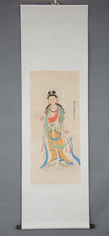Chinese Scroll Painting ;signed Zhang Daqian