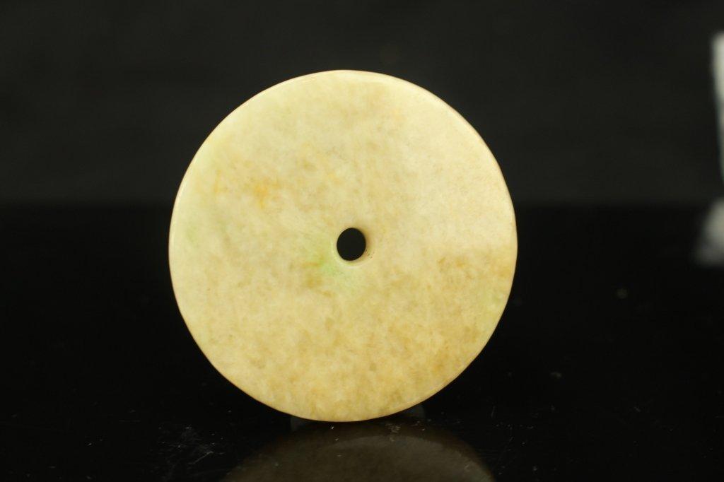 Chinese white jade Bi