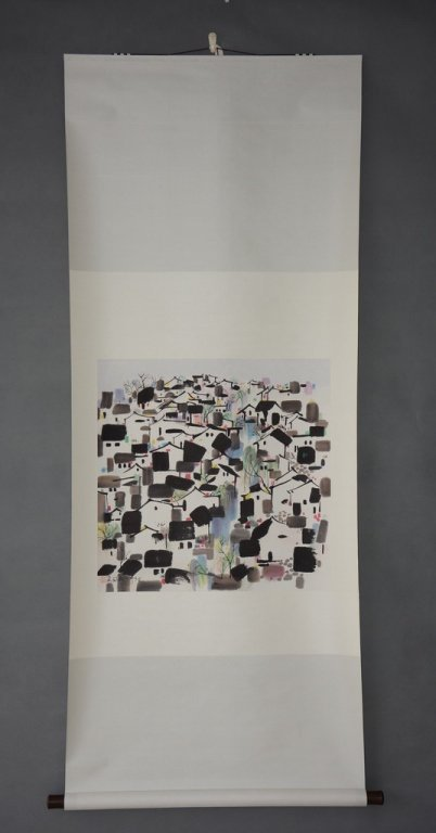 Chinese Scroll Painting; signed Wu Guanzhong