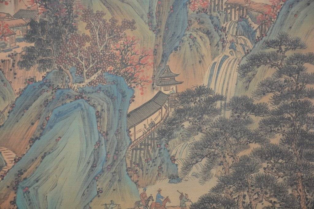 Chinese Scroll Painting ; signed Wang Hui - 6