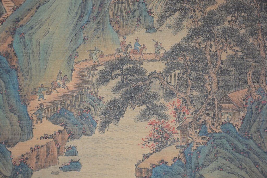 Chinese Scroll Painting ; signed Wang Hui - 7