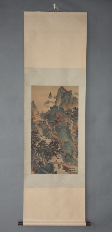 Chinese Scroll Painting ; signed Chou Ying