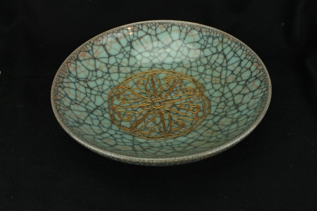 Chinese Celadon crackle plate