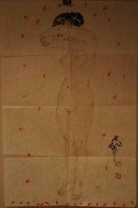 He Jiaying ; Chinese water color on paper