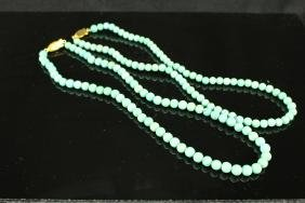 Two Chinese Turquoise beads necklace