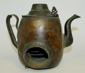 Chinese Copper Teapot  From estate of collector that