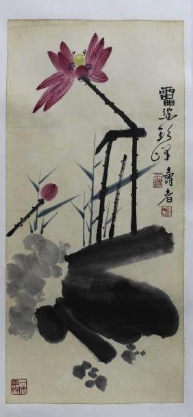 Chinese Watercolor Painting - Flowers  Chinese