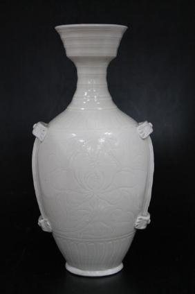 Chinese White Glazed Vase  Chinese White Glazed Vase