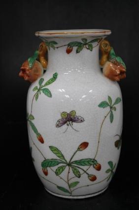 Chinese Porcelain Vase  Chinese Porcelain Vase Size :
