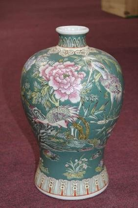 """Chinese Famille Rose Vase  Size : 14"""" T"""