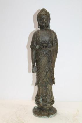 """Bronze Statue - Diety  Size : 15.5"""" T"""