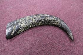 """Highly Carved Water Buffalo Horn  Size : 16"""" L"""