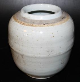 """Chinese Glazed Pottery Vase  Size:7""""x7"""""""