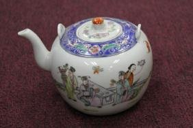 "Chinese Famille Rose Teapot  Size : 7"" to spout."