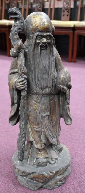 "Chinese Wood Carving  Chinese Wood Carving Size : 22"" T"