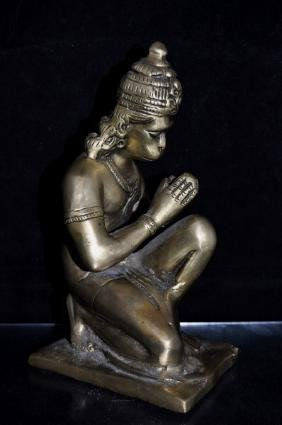 "Indian Bronze Figure  Size : 8.25"" T"