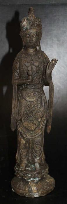 "Cast Metal Guanyin Figure  Size : 15"" T"