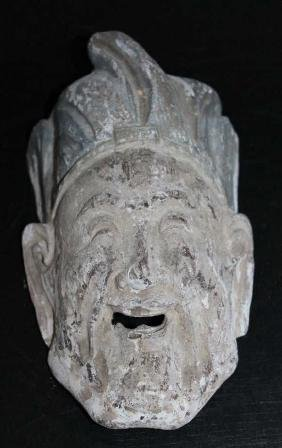 """Chinese Wood Carved Face  Size : 7"""" T"""
