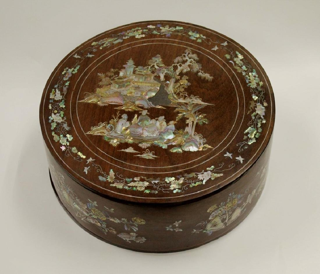 Qing Wood Box with Mother-of-Pearl Inlays