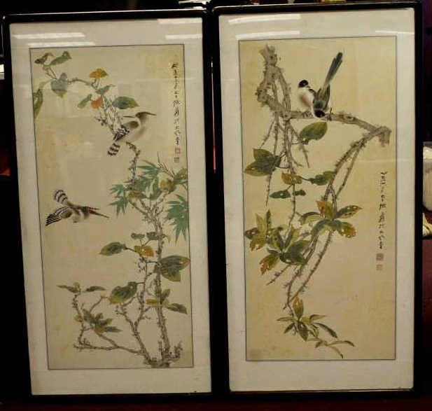 A Pair of Zhang Daqian Paintings with Frame