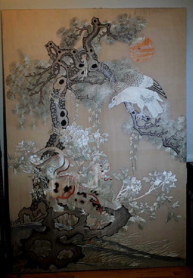 Large Chinese Antique Embroidery