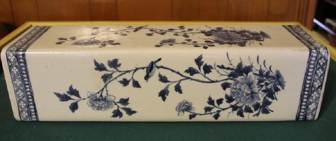 Antique Chinese B&W Porcelain Pillow