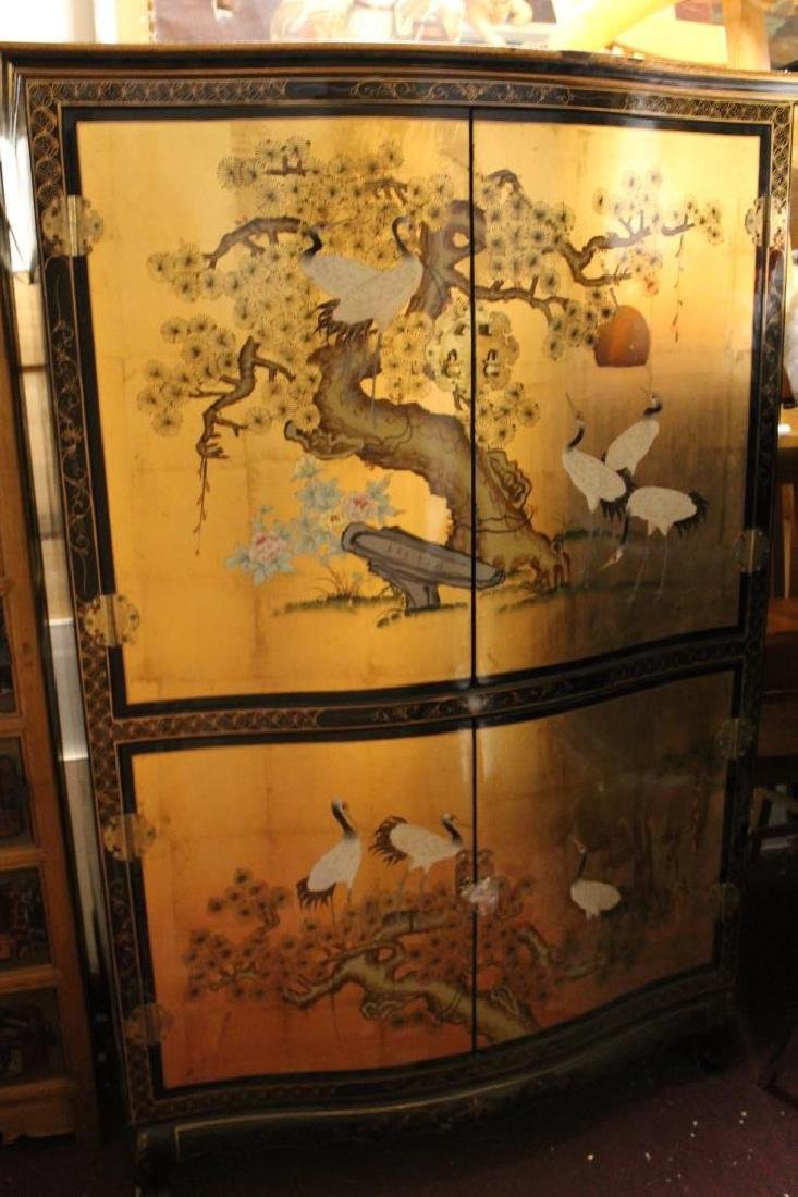 Beautiful Chinese Painted Armoire
