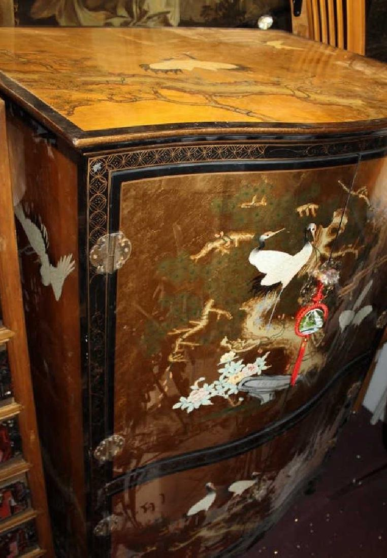 Beautiful Chinese Painted Armoire - 2