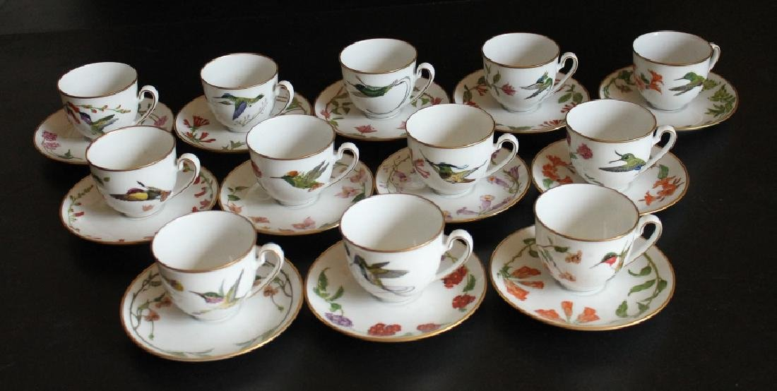 A Group of Antique Cups and Saucers