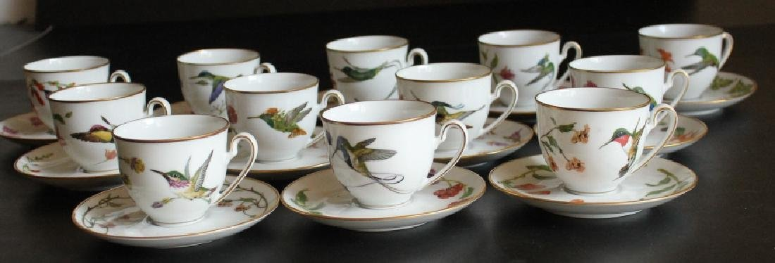 A Group of Antique Cups and Saucers - 2