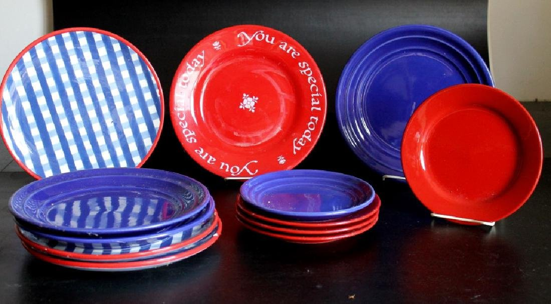 A Group of of Colorful Dishes
