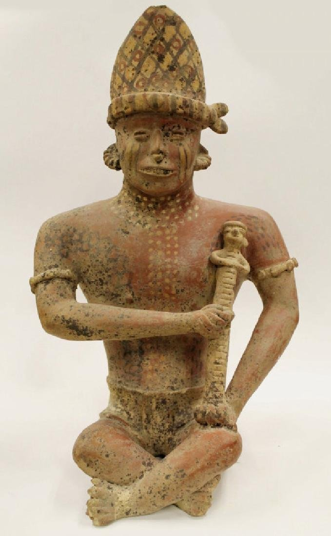 Large Early Indian Pottery Figure
