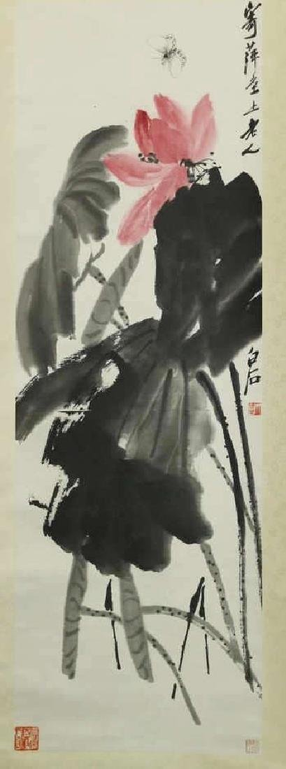 Chinese Scroll Painting - Flowers