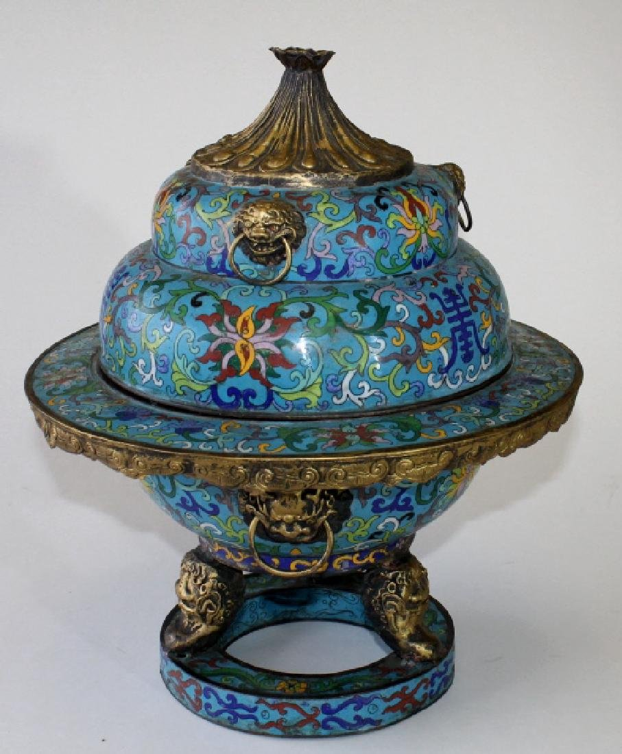 Chinese Cloisonne Incense Burner