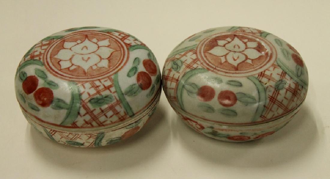 Two Sancai Ink Boxes - 2