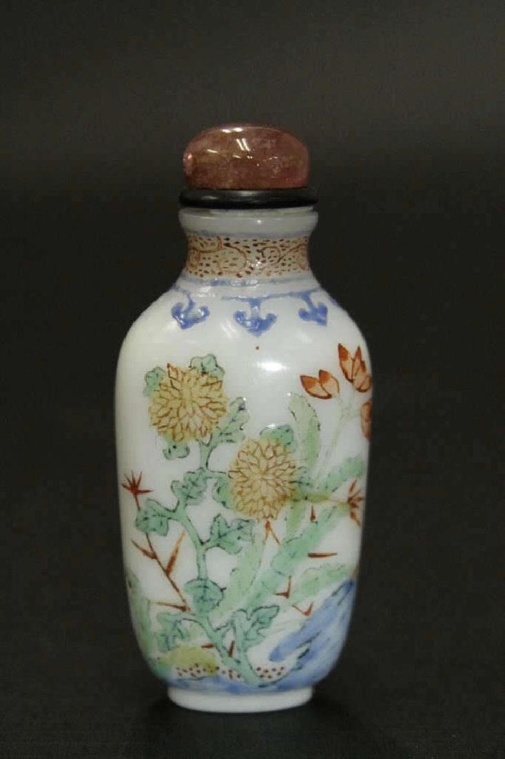 Enamel Painted Glass Snuff Bottle