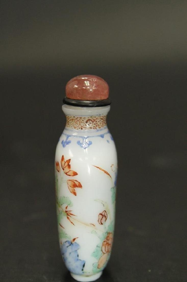 Enamel Painted Glass Snuff Bottle - 3