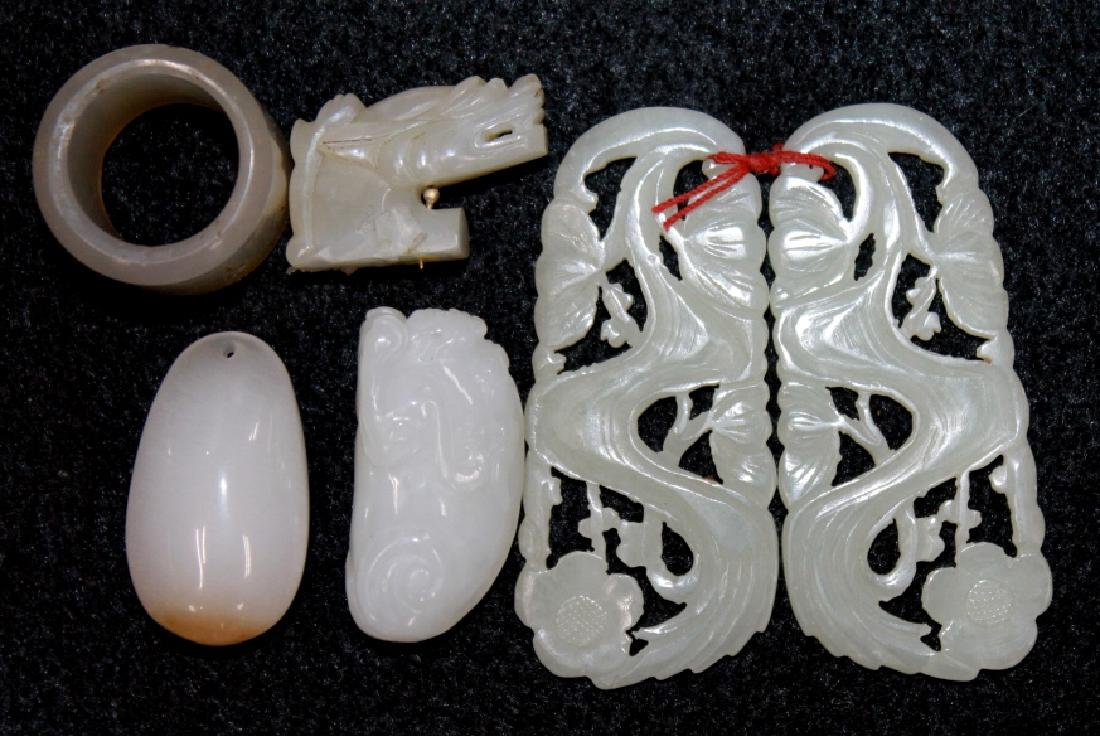 Grouping of Carved Jade Pieces