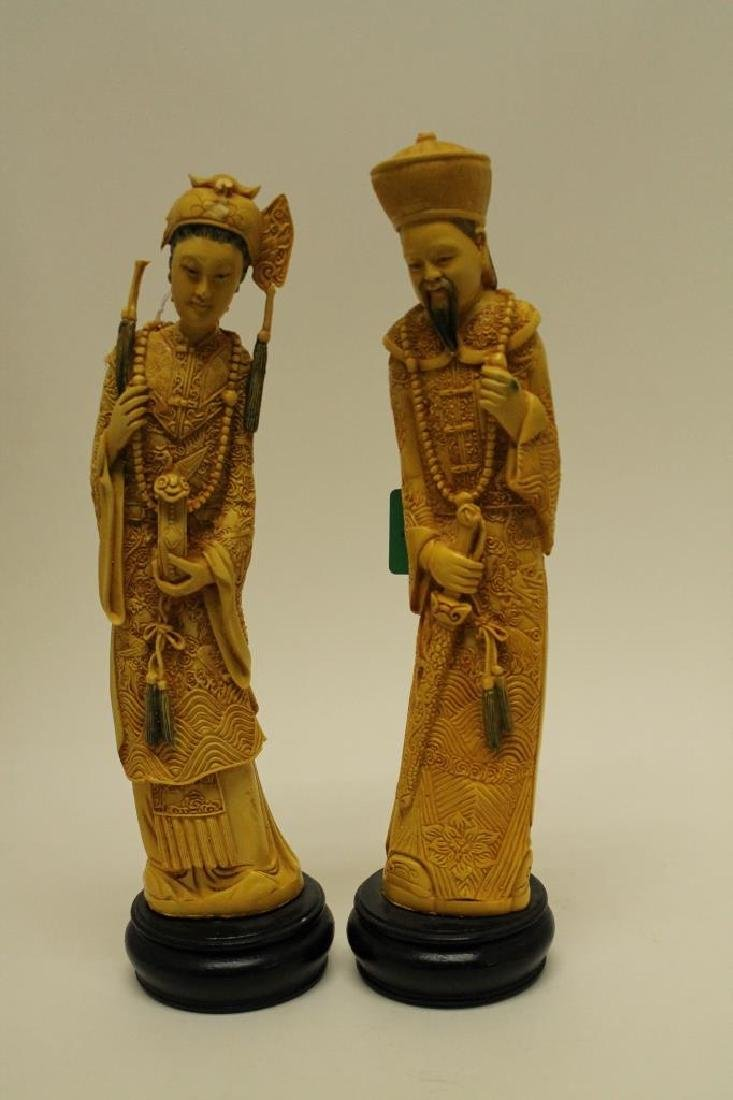 Highly Carved Chinese Figures