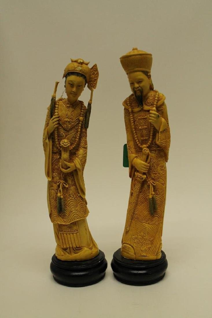 Highly Carved Chinese Figures - 2