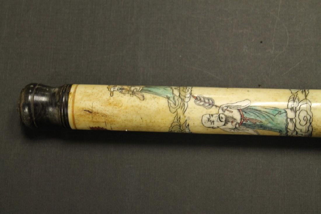 Carved Opium Pipe - 2