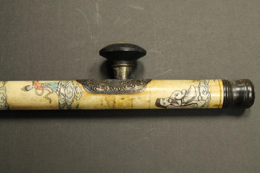 Carved Opium Pipe - 3
