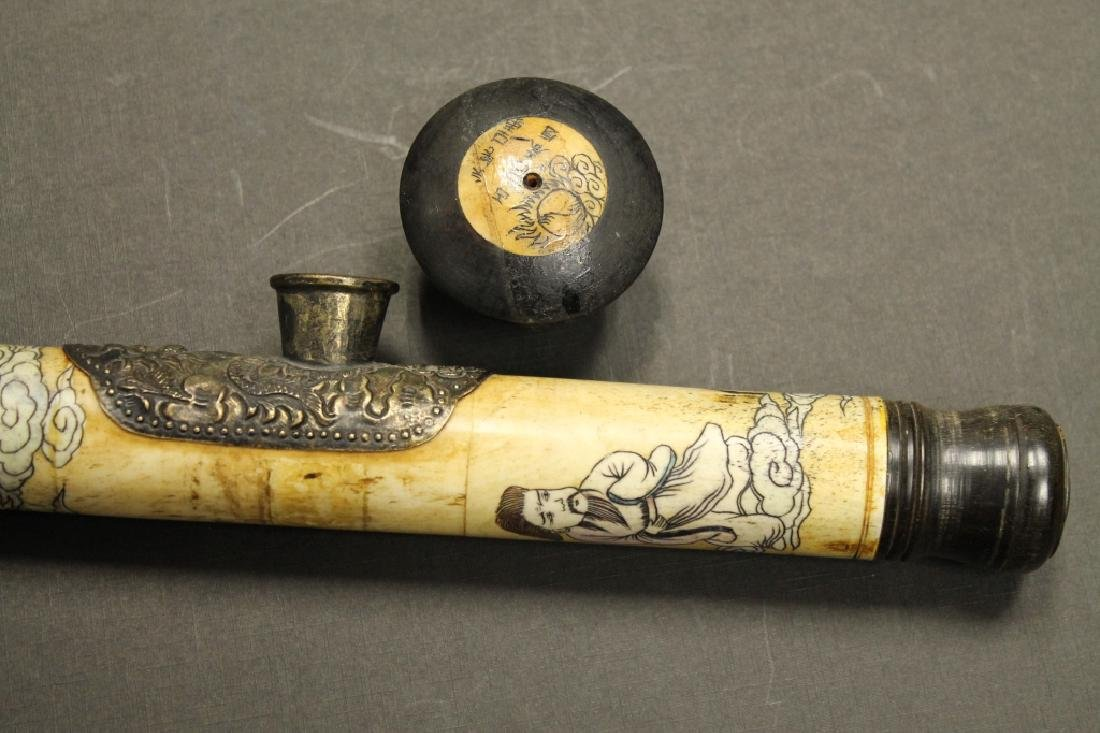 Carved Opium Pipe - 4